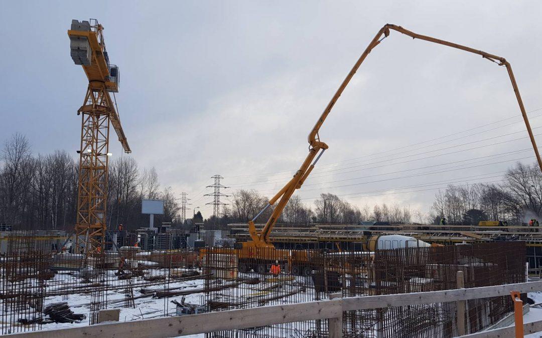 """""""Nowe Ptasie"""" postęp prac – wylewamy pierwsze stropy budynków"""