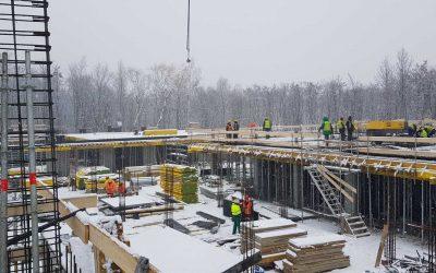 Postęp prac – kolejne stropy w przygotowaniu