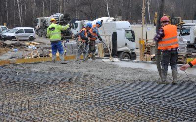 Kolejne zdjęcia z prac na budowie