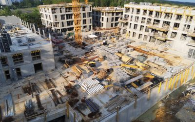 Zdjęcia obrazujące postęp prac na budowie z końca maja 2019