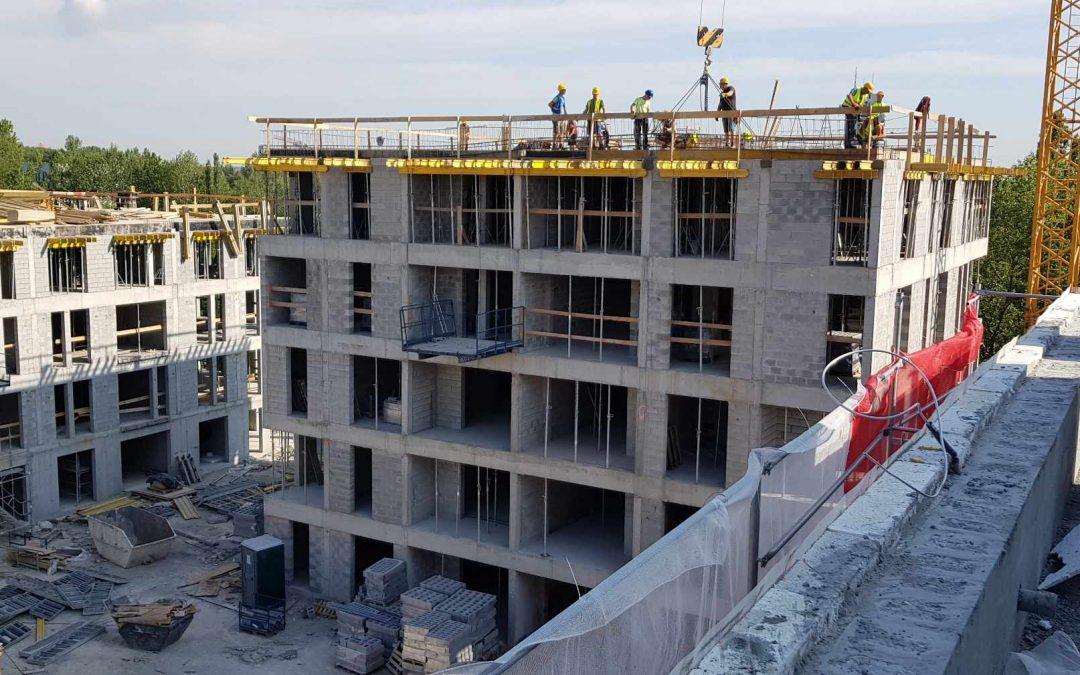 Kolejne zdjęcia z budowy osiedla Nowe Ptasie